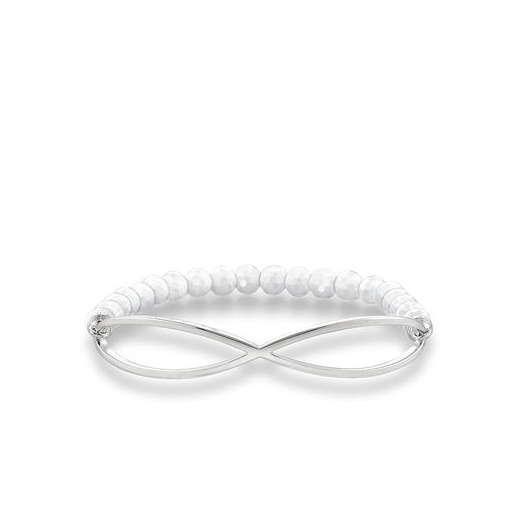 Thomas Sabo Love Bridge White Infinty Agate Bracelet