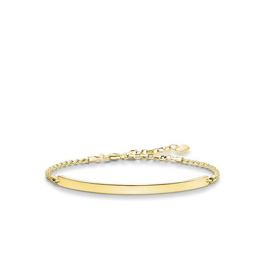 Thomas Sabo Love Bridge Yellow Gold Plated Bracelet