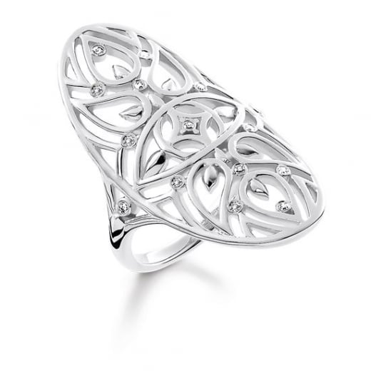 Thomas Sabo Nazar's Eye Ornate Diamond Ring - Size 54