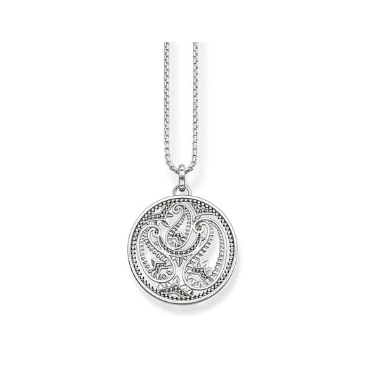 Thomas Sabo Paisley Design Silver Necklace