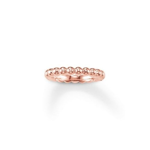 Thomas Sabo Rose Gold Filigree Dots Ring - Size 54