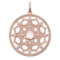 Rose Gold & Rose Quartz Filigree Pendant