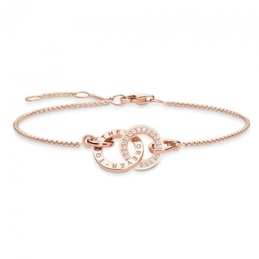 "Thomas Sabo Rose Gold ""Together Forever"" Entwined Bracelet"
