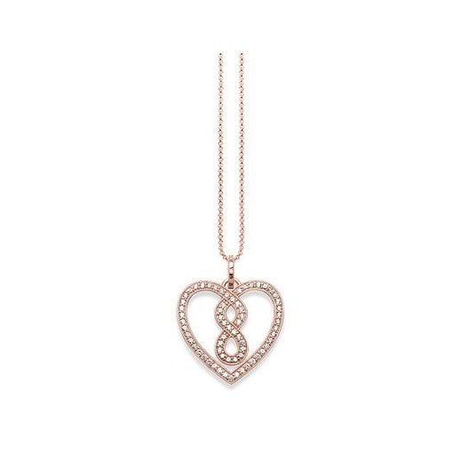 Thomas Sabo Rose Pave Infinity Heart Necklace