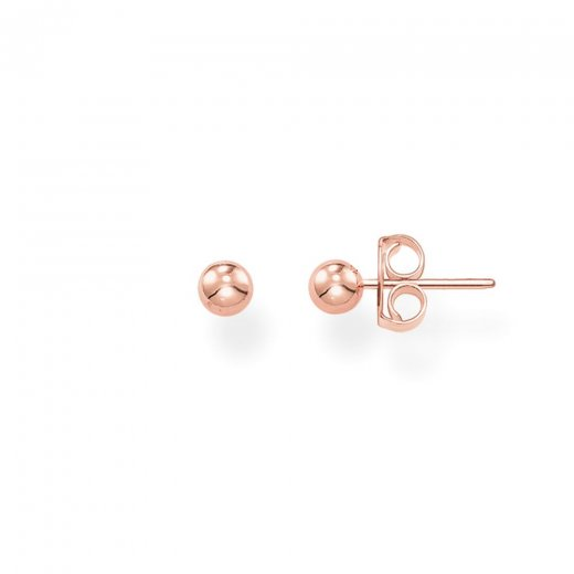 Thomas Sabo Rose Plated Silver Ball Studs