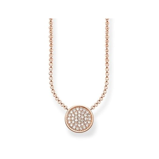 Thomas Sabo Rose Sparkling Circle Necklace