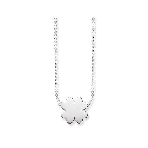 Thomas Sabo Silver Cloverleaf Necklace