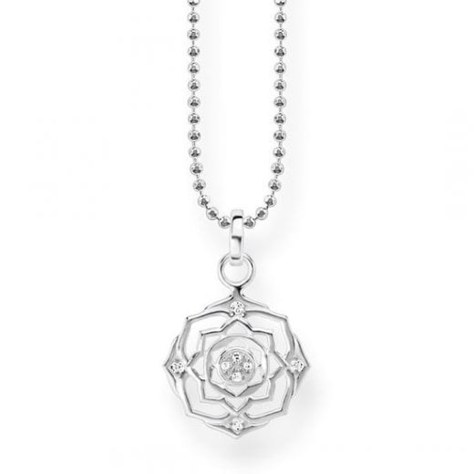 Thomas Sabo Silver Crown Chakra Necklace