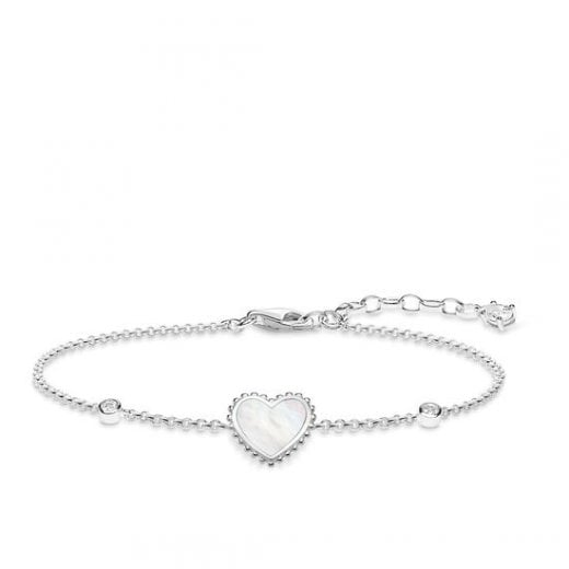 Thomas Sabo Silver & Mother of Pearl Heart Bracelet