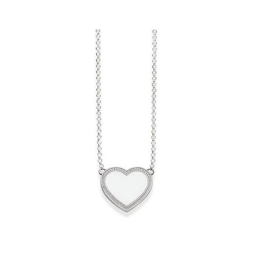 Thomas Sabo Silver Pave Heart Necklace