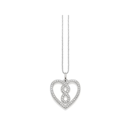 Thomas Sabo Silver Pave Infinity Heart Necklace