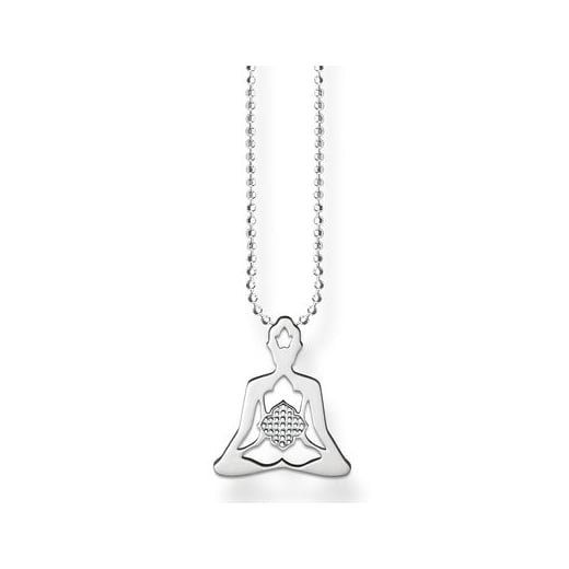 Thomas Sabo Silver Yoga Lotus Necklace