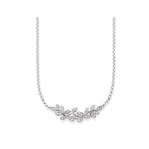 Thomas Sabo Silver Zirconia Fairy Twines Leaves Necklace