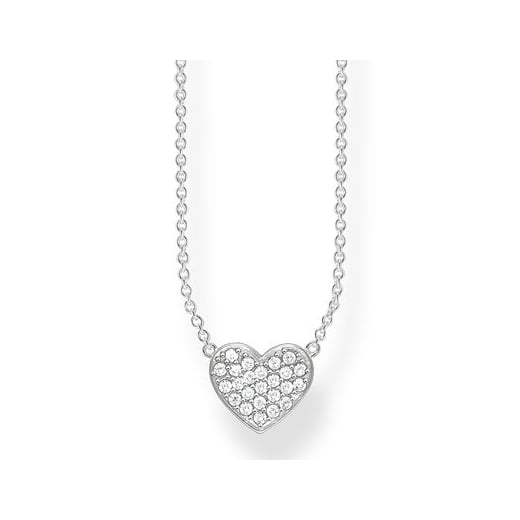 Thomas Sabo Sparkling Silver CZ Heart Necklace