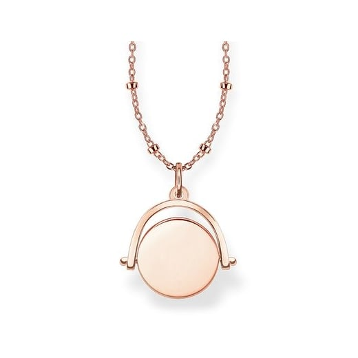 Thomas Sabo Spinning Rose Coin Necklace