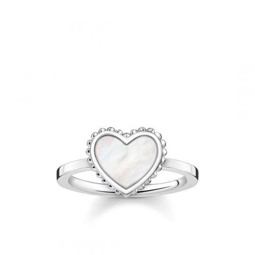 "Thomas Sabo STERLING SILVER Glam & Soul Ring ""Heart"""
