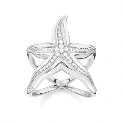 "STERLING SILVER Glam & Soul Ring ""Starfish"""