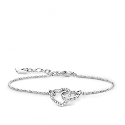 Thomas Sabo Together Forever Silver Heart Bracelet