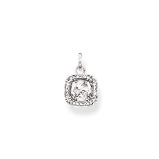 Thomas Sabo White CZ Cushion Cluster Pendant