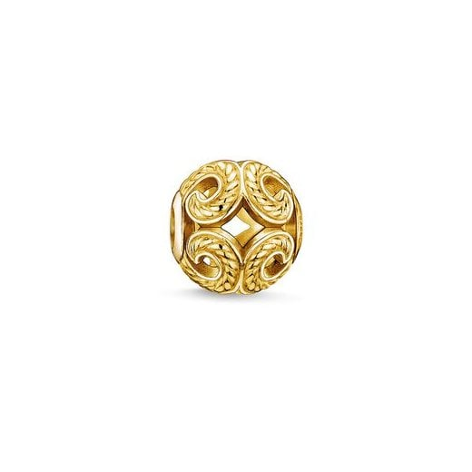 Thomas Sabo Yellow Gold Swirls Wave Bead