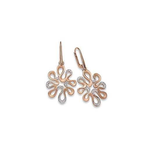 Viventy Earrings with cubic zirconia partly gilded