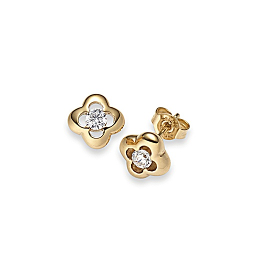 Viventy Gold plated Studs zirconia