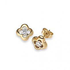 Gold plated Studs zirconia