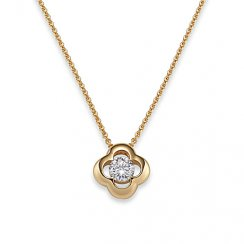 Pendant plated with chain, zirconia