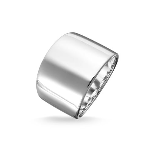 Thomas Sabo Wide Silver Classic Plain Ring - Size 56