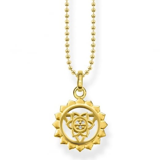 Thomas Sabo Yellow Gold Throat Chakra Necklace