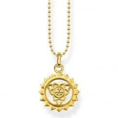 Yellow Gold Throat Chakra Necklace
