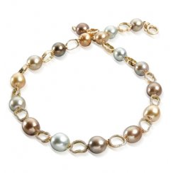 Multi Coloured South Sea Pearl & Diamond Necklace